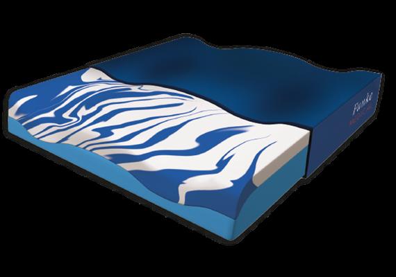 Sitzkissen Premium Gel blau mit Cooling-Effekt 42x42x8 cm