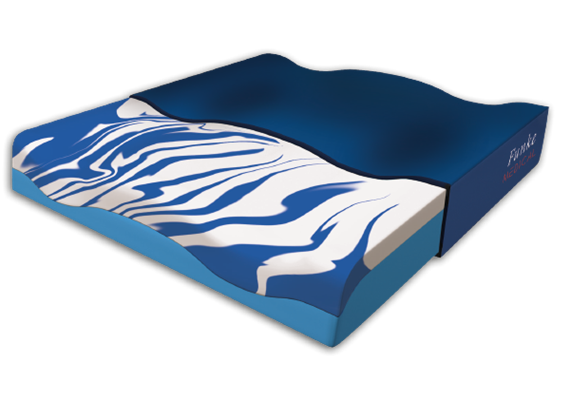 Sitzkissen Premium Gel blau mit Cooling-Effekt 42x46x8 cm