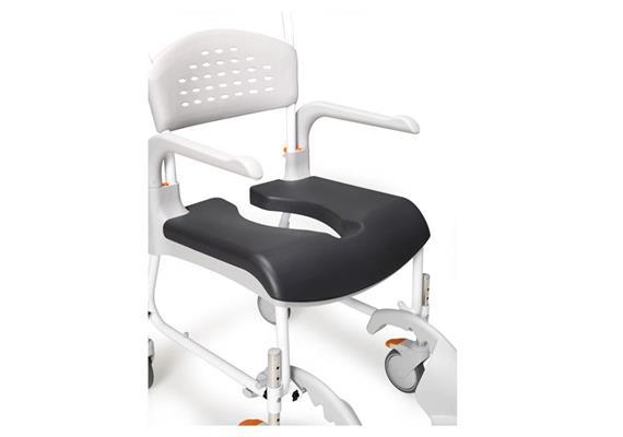 Sitzpolster grau zu Clean mit Öffnung