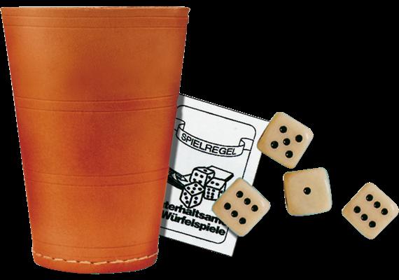 Spiel Würfelbecher XL inkl. 6 Würfel