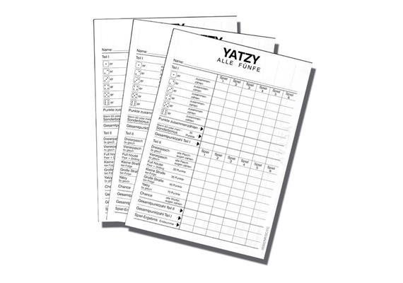 Spiel Yatzyblock XL 3x40Blatt