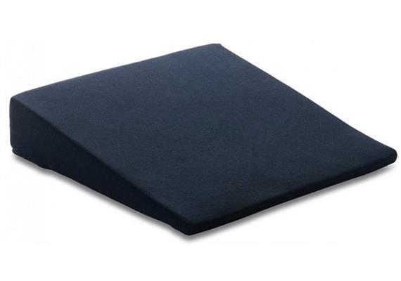 TEMPUR Keilkissen 40x40x9/1,5cm mit Bezug Jersey blau