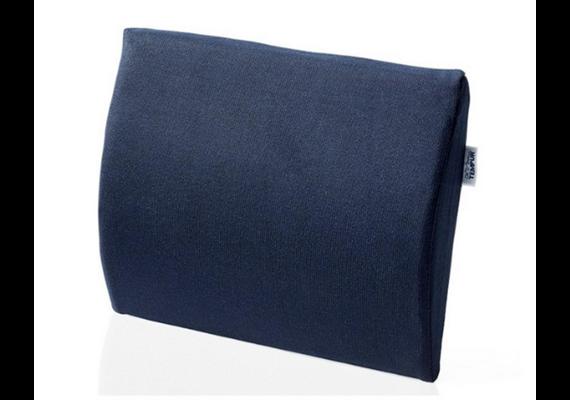 TEMPUR Rückenkissen höhenverst. 36x36x7cm mit Höhenverstellung  und Jersey-Bezug blau