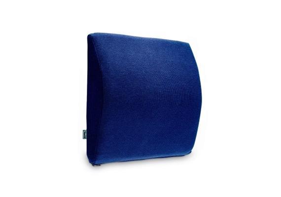 TEMPUR Rückenkissen Transit Lordosekissen 30x25x6/1cm mit Bezug Jersey blau
