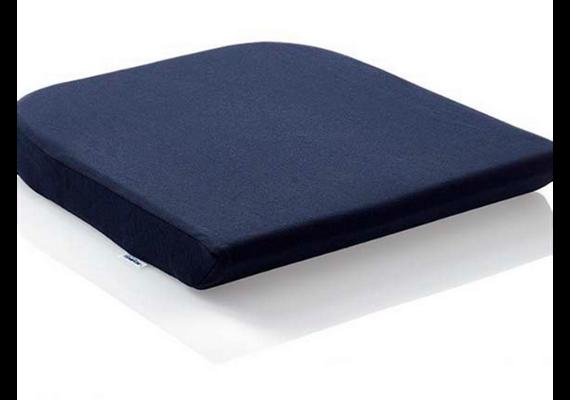 TEMPUR Sitzkissen 40x42x5cm mit Bezug Jersey blau