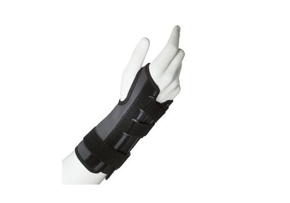 Thuasne Ligaflex Classic G2 rechts schwarz Gr.1 (13-15cm) Handgelenkbandage mit Schiene