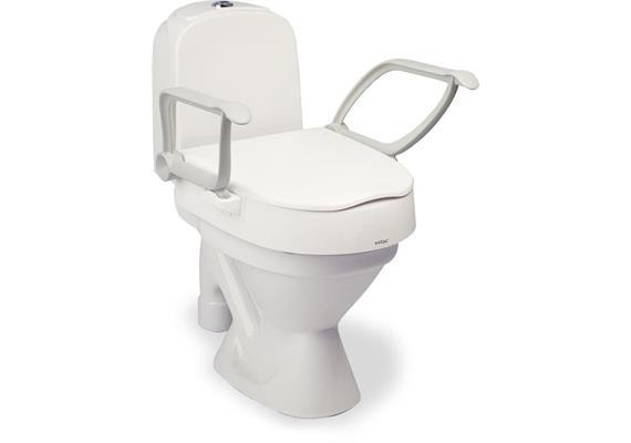 Toilettenaufsatz CLOO 10cm mit Armlehnen Höhe und Sitzneigung einstellbar 6/10cm