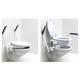 Toilettenaufsatz mit hochklappbaren Armlehnen, max. 120 kg, inkl. WC-Sitzgarnitur