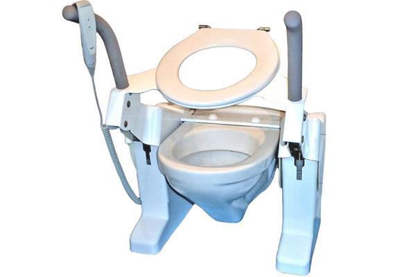 Toilettenlift Aerolet Basic std mit Armlehnen 230V /Toil.Hö.:39-42cm,belastbar bis 150kg
