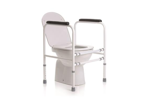 Toilettenstützgestell Breite (61-69cm) u. Höhe (66-79cm) verstellbar, 110kg Belastbarkeit