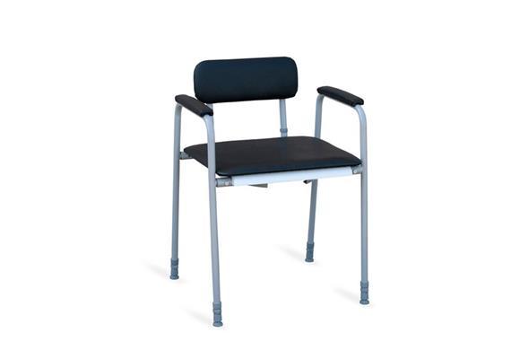 Toilettenstuhl m.Arm-und Rückenlehne Nordic XXL H:45-60cm max.300kg