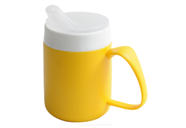Trinkbecher Ornamin Vital mit Trink-Trick Modell 207 gelb ohne Deckel spülmaschinenfest