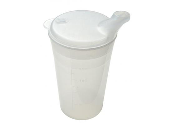 Trinkbecher-Set Standard 2 Deckel für Tee+Brei(Schnabelbecher-Behälter mit zwei Aufsätzen)