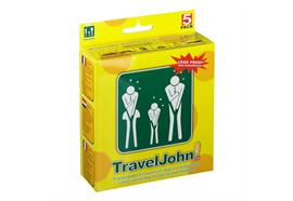 Urin-Beutel Einweg TravelJohn Unisex 3 Stk auslaufsicher und geruchsneutralisierend