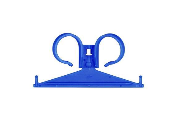 Urin-Beutelhalterung für Bettrahmen Kunststoff blau