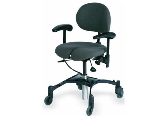 VELA Therapie-Stuhl Arthrodese Bezug Kunstleder grau