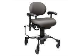 VELA Therapie-Stuhl Tango 100EL mit elektrischer Höhenverstellung Kunstleder grau